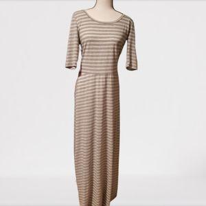 LuLaRoe Ana dress sz XL Striped Sparkly Silver